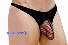 Sexy Men's Stretchy Net Pouch Thong
