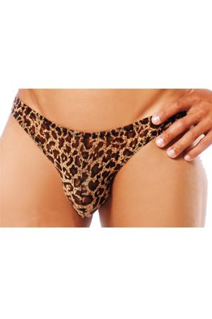 Mens Classic Leopard Print Cheeky Brief Underwear #216