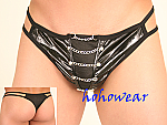 Sexy Mens Vinyl Shiny Chain Thong Underwear #146